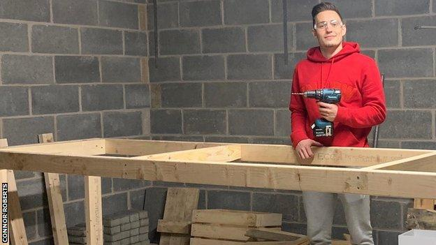 Connor Roberts says he plans to go into carpentry professionally when he has retired from football
