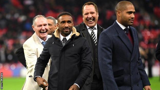 England legends at half-time