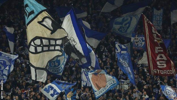 Schalke home fans
