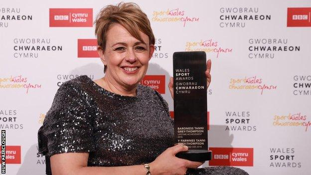 Baroness Tanni Grey-Thompson received the Lifetime Achievement award