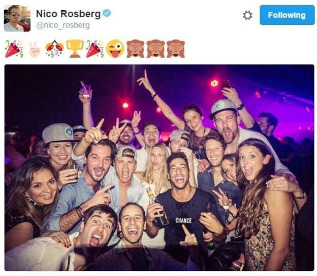 Nico Rosberg party