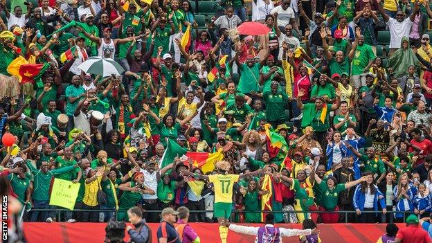 Cameroon fans at Canada 2015