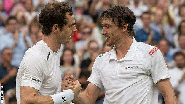 Andy Murray and John Millman
