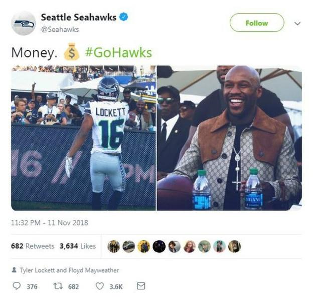 Floyd Mayweather on Seattle Seahawks tweet