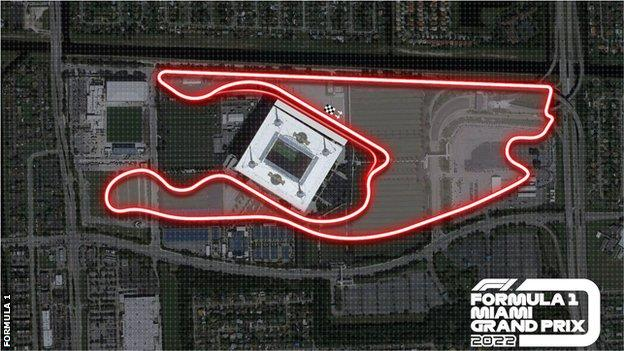 Map of the Miami Grand Prix track