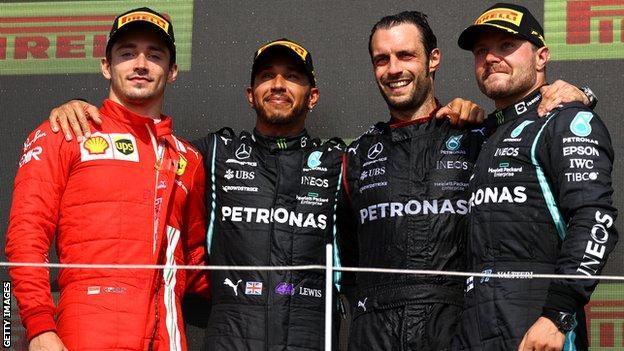 British grand prix podium