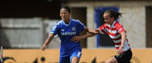 WSL match between Chelsea and Doncaster Rovers Belles