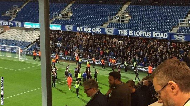 Carlisle United fans celebrated after the game