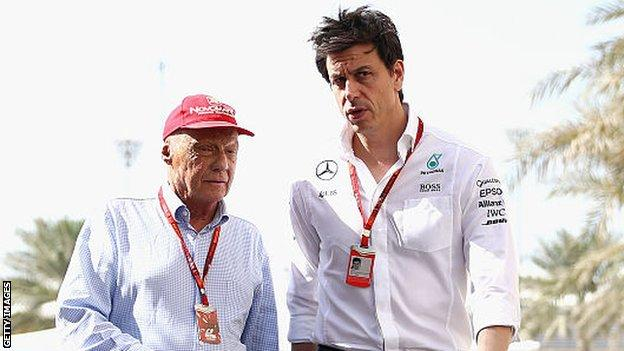 Niki Lauda and Toto Wolff