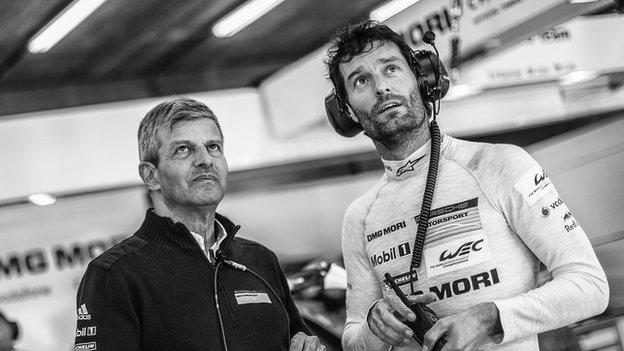 Fritz Enzinger and Mark Webber