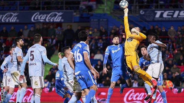 Getafe in action against Celta Vigo