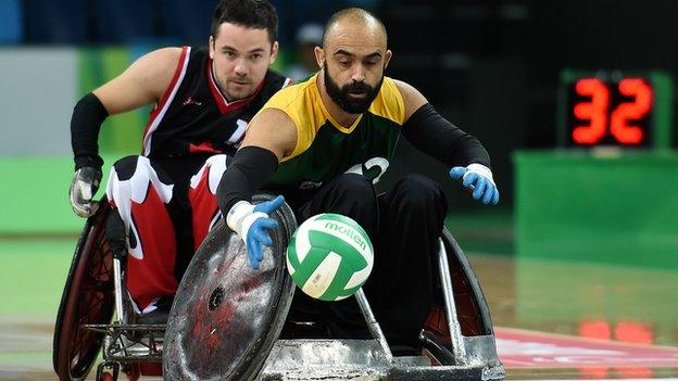 Wheelchair rugby at the Paralympic test event in Rio