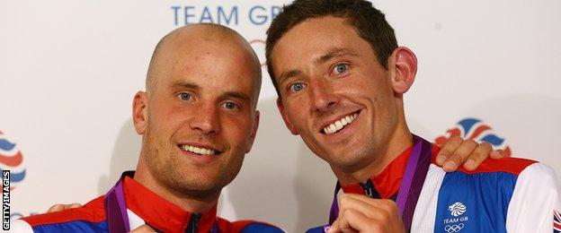 David Florence (right) won the men's canoe double C2 Olympic silver medal along with Richard Hounslow at London 2012