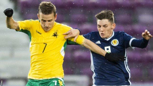 Billy Gilmour has established himself in the Scotland Under-21 team