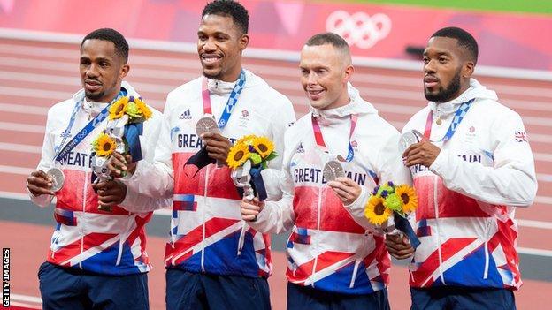 British 4x100m men's relay team