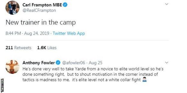 Twitter reaction to Kovalev v Yard