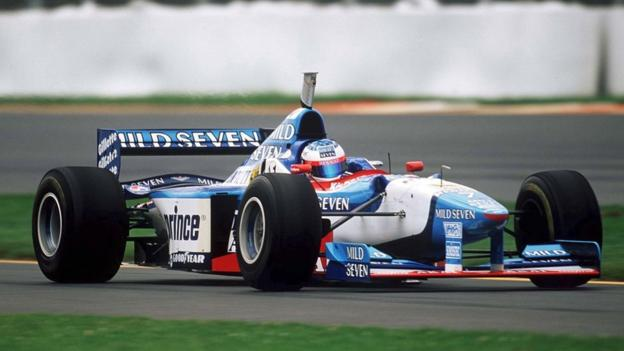 French racing driver Jean Alesi at the Australian Grand prix in Melbourne in 1997