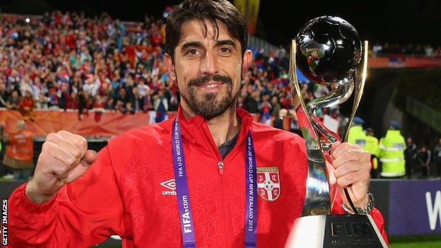 Veljko Paunovic coached Serbia to the under-20 World Cup in 2015
