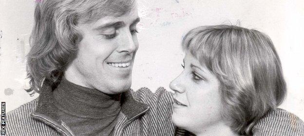 John Lloyd and Chris Evert in October 1978