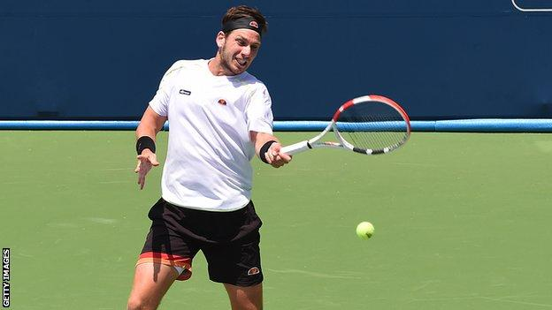 Cameron Norrie playing at the Atlanta Open