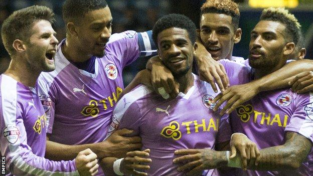 Garath McCleary celebrates goal against Portsmouth
