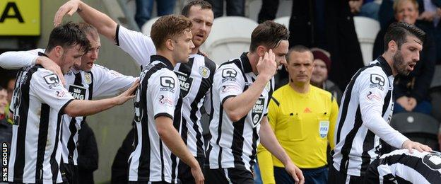 St Mirren finished 20 points off the play-off places last season