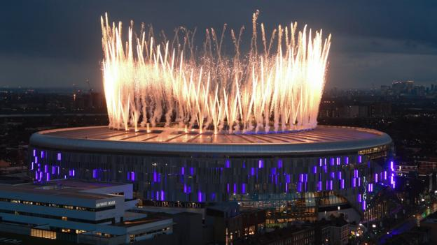 Tottenham Hotspur Stadium: Fireworks and tears as Spurs return home thumbnail