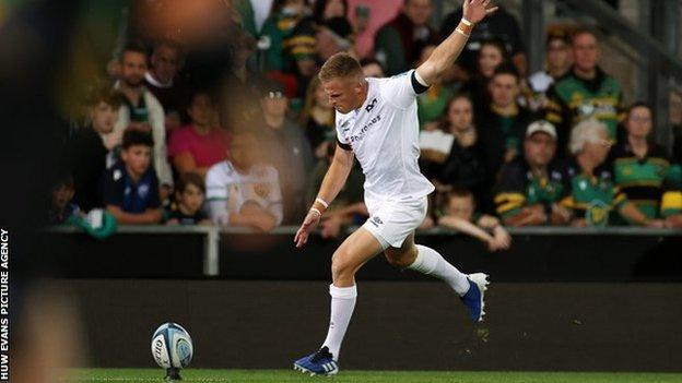 Gareth Anscombe joined Ospreys from Cardiff Blues in 2019