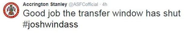 Accrington Stanley Twitter