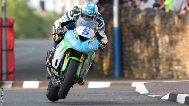 Dean Harrison was quickest of the Supersports on Saturday night
