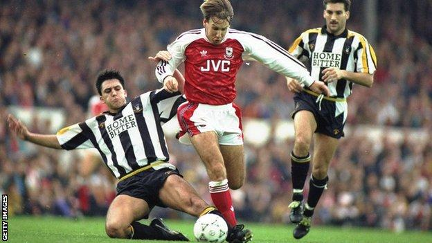 Paul Merson plays for Arsenal