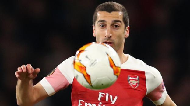 Arsenal's Henrikh Mkhitaryan to miss Europa League final against Chelsea thumbnail