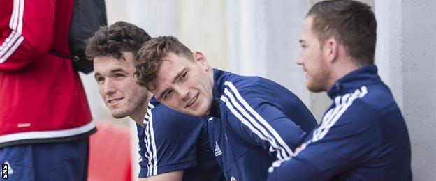 John McGinn, Andrew Robertson and Ross McCormack