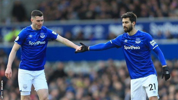 Michael Keane and Andre Gomes