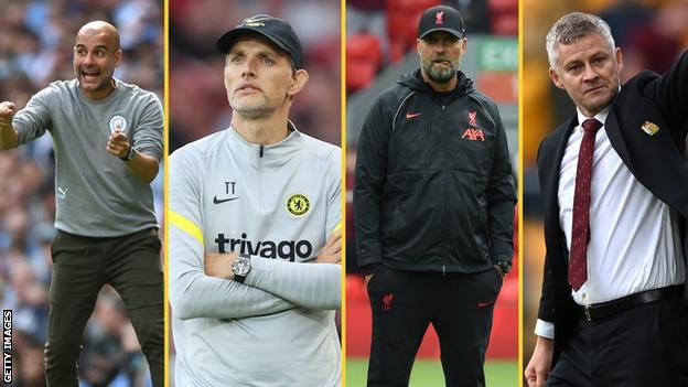 Pep Guardiola, Thomas Tuchel, Jurgen Klopp, Ole Gunnar Solskjaer