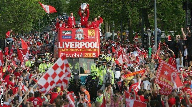 2005 Champions League final parade