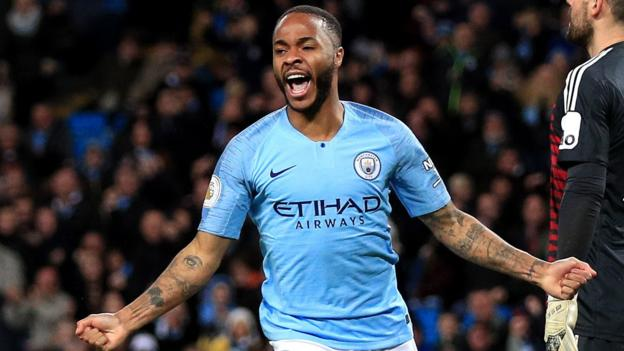 Man City 3-1 Watford: Sterling hat-trick lifts leaders clear of Liverpool thumbnail