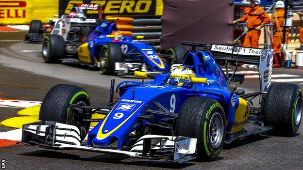 Felipe Nasr and Marcus Ericsson at the Monaco GP