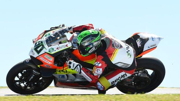 Eugene Laverty is competing on a Ducati for Team Go Eleven in this year's World Superbike Championship