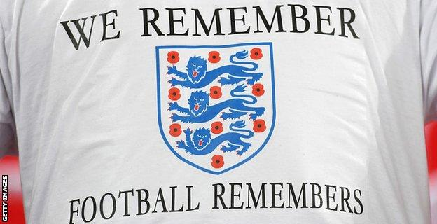 A t-shirt reads 'football remembers'