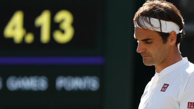 102487896 federer - Roger Federer out of Wimbledon 2018 after Kevin Anderson defeat