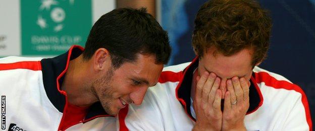 James Ward and Andy Murray