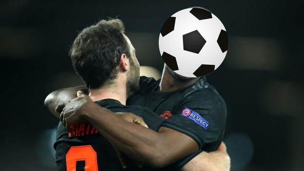 Manchester United's Juan Mata and Odion Ighalo