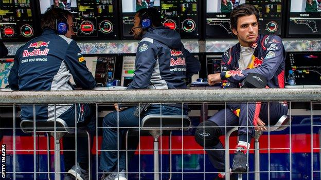 Carlos Sainz in action at the Italian GP