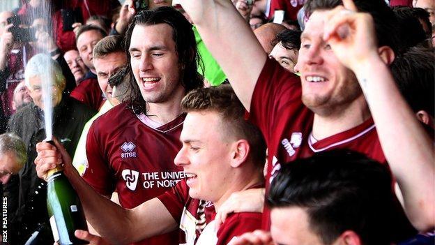 Northampton celebrate promotion
