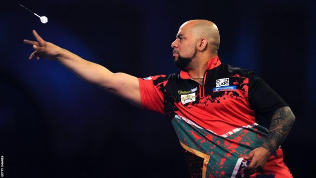 South African darts player Devon Petersen