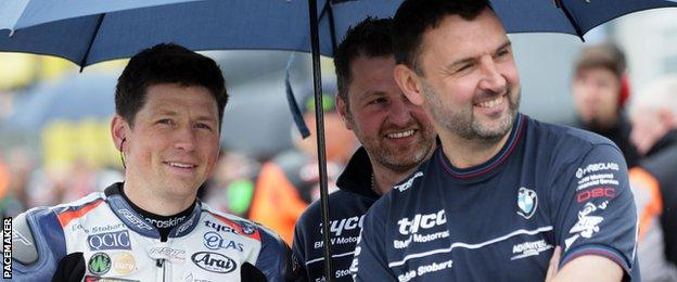 Dan Kneen pictured during a practice session at the North West 200