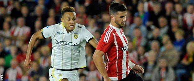 Lewis Baker and Shane Long