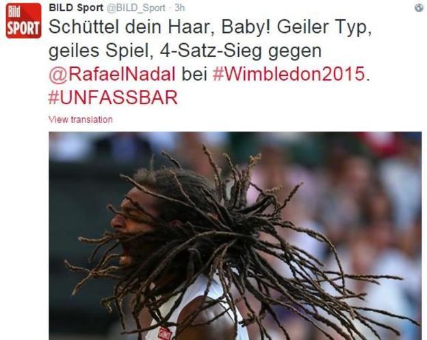 "German paper Bild: ""Shake your hair, baby!... #incomprehensible"""