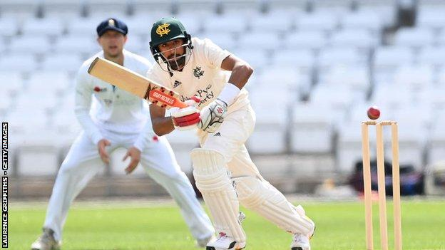 Haseeb Hameed hit his highest score (87) in his fourth match so far for Nottinghamshire